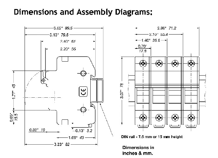 din rail fuse holders ford fuse box fuse holder drawing